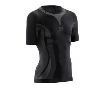 CEP - Tricou de compresie ultralight cu mâneci scurte black