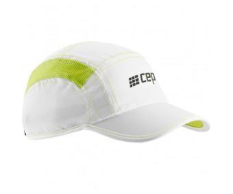 Cep - Șapcă alergare, white/lime