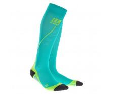 CEP - Șosete de compresie pentru alergare 2.0 lagoon/lime