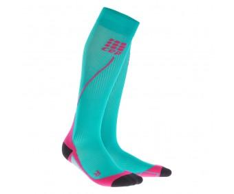 CEP - Șosete de compresie pentru alergare 2.0 lagoon/pink