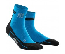 CEP - Șosete scurte de alergare merino electric blue/black