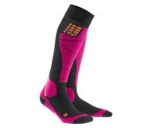 CEP - Șosete ski merino black/pink