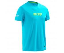 CEP - Tricou pentru alergare hawaii blue/green
