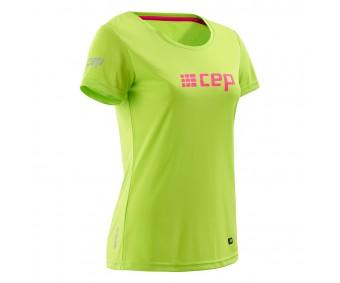 CEP - Tricou pentru alergare lime/pink