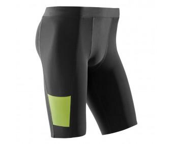 CEP - Pantaloni scurți de antrenament, black/lime