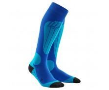 CEP - Șosete ski thermo blue/azure
