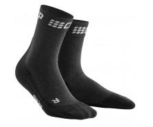 CEP - Șosete medii de alergare iarna grey/black