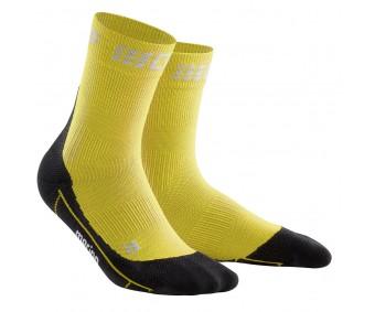 CEP - Șosete medii de alergare iarna yellow/black