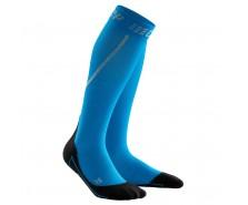 CEP - Șosete de compresie pentru alergare iarna, electric blue/black