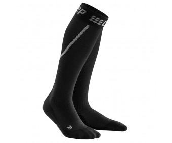 CEP - Șosete de compresie pentru alergare iarna, grey/black