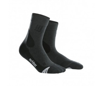 CEP - Șosete merino outdoor medii grey/black