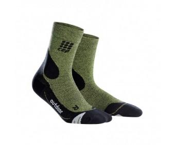 CEP - Șosete merino outdoor medii green/black