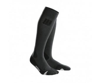 CEP - Șosete merino outdoor lungi grey/black