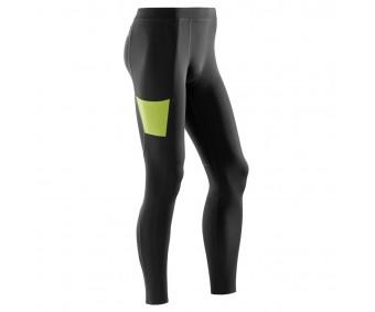 CEP - Pantaloni lungi de antrenament, black/lime