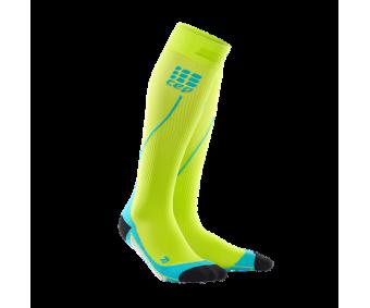CEP - Șosete de compresie pentru alergare 2.0 lime/hawaii blue