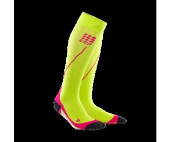 CEP - Șosete de compresie pentru alergare 2.0 lime/pink