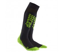 CEP - Șosete ski ultralight black/green