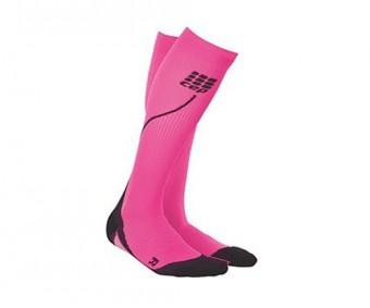 CEP - Șosete de compresie pentru alergare 2.0 pink/black