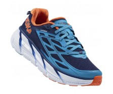 Hoka Clifton 3, Medieval Blue/Red Orange, bărbați
