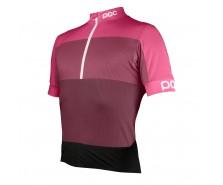 Poc - tricou ciclism Fondo WO Half Zip Sulfate Multi Pink