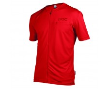 Poc - tricou ciclism Trail Light Zip Tee Pewter Red