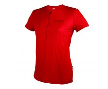 Poc - tricou ciclism Trail Light Zip WO Tee Pewter Red