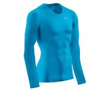 CEP - Tricou de compresie Wingtech, mânecă lungă, electric blue/green