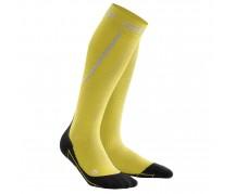 CEP - Șosete de compresie pentru alergare iarna, yellow/black