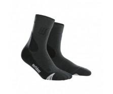 CEP - Șosete merino outdoor medii grey/black