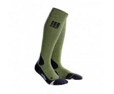 CEP - Șosete merino outdoor lungi green/black