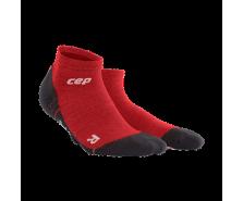CEP - Șosete merino outdoor light peste gleznă deep magma